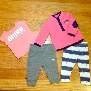3-6 month Puma and Nautica set